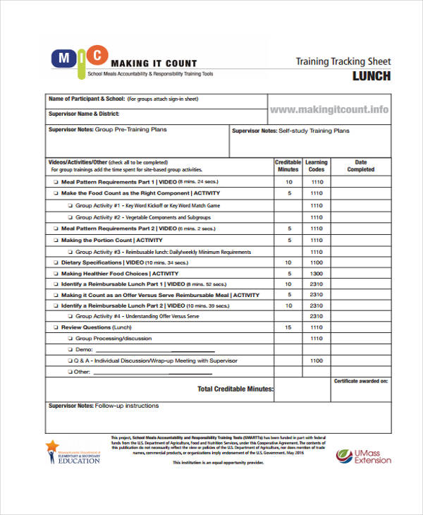 Training Attendance Record Template Survey Templates And Worksheets