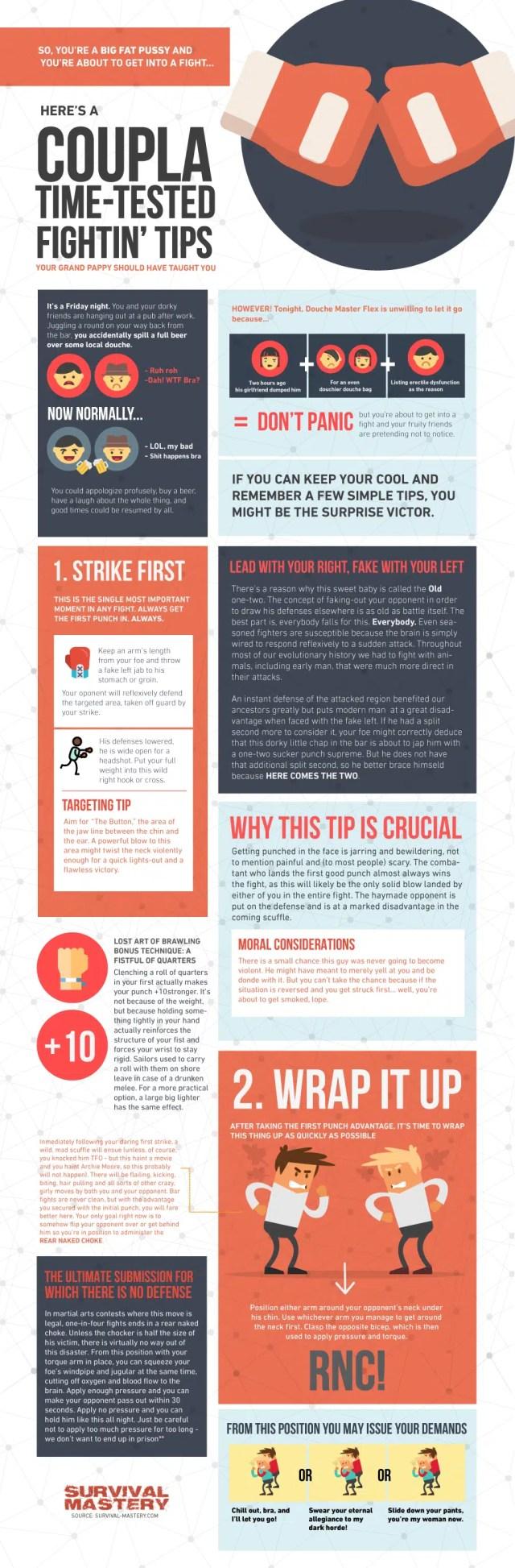 Comment combattre la rue infographique