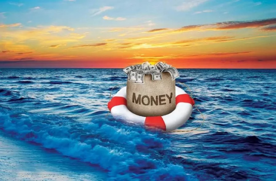 Dollars floating away