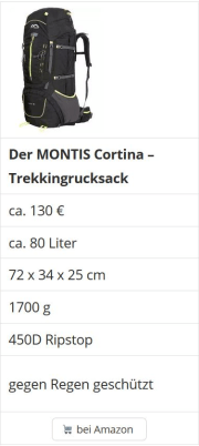 Trekkingrucksack 70 Liter im Vergleich Notfallrucksack Fluchtrucksack Test