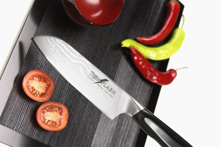 Damast Küchenmesser mal richtig scharf