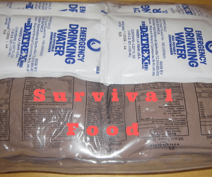 how much food for survival