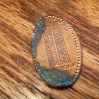 New York World Trade Center Twin Towers Flattened Penny Found
