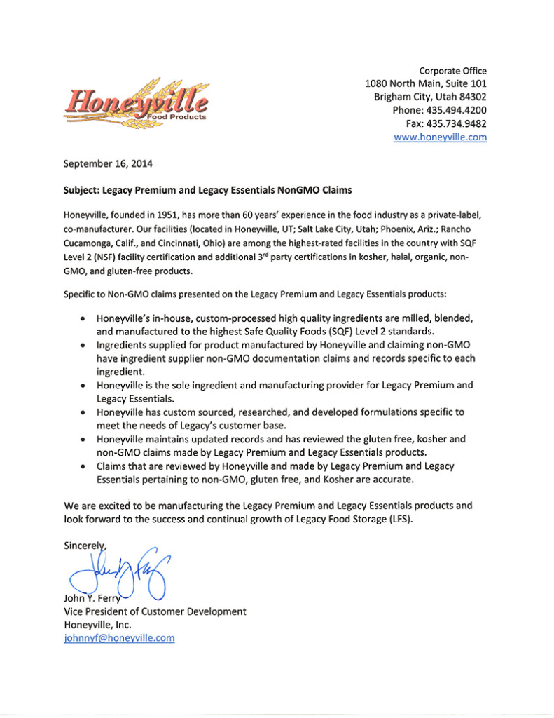 Legacy Honeyville MFG and NonGMO Letter-1