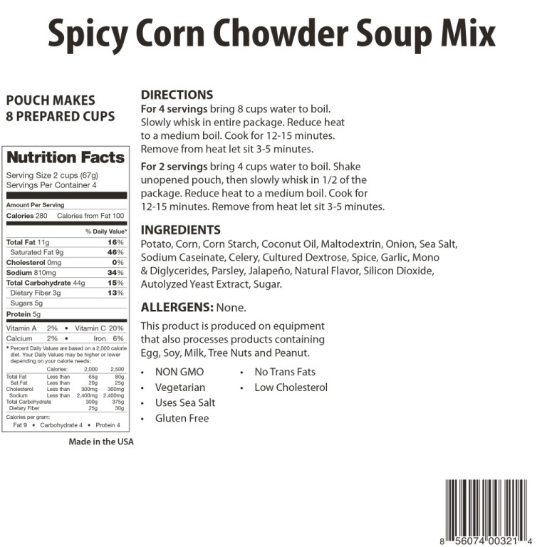 Spicy Corn Chowder Soup