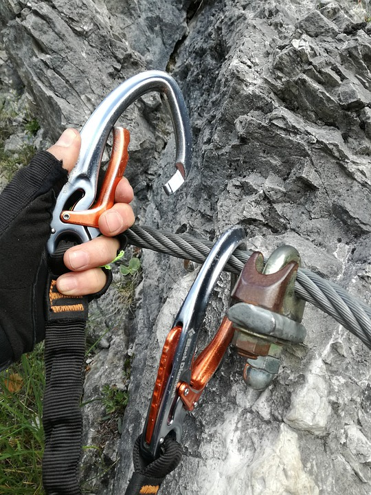 Climbing Equipment Via Ferrata Set Carbine Security