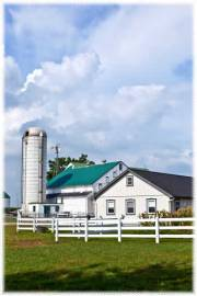 farm house with silo