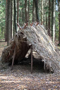 Survival Shelter - Learn to build temporary survival shelters in the woods