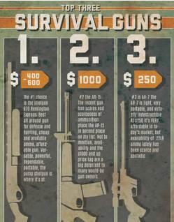 Top Three Survival Guns