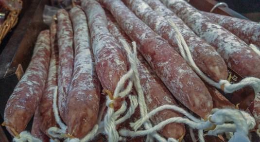 salt curing sausage