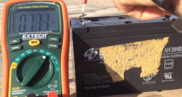 Check the Voltage Reading of Each Cell   How to Revive Sealed Lead Acid Batteries
