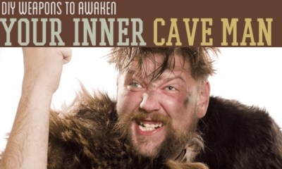 DIY caveman weapons | Homemade Weapons You Can DIY To Awaken Your Inner Caveman | homemade weapons | badass weapons | Featured