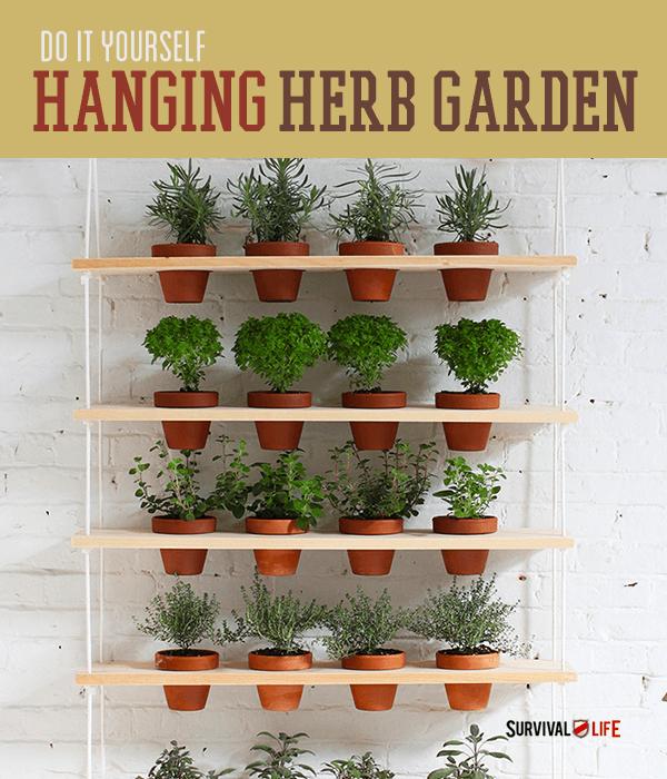 DIY Indoor Vertical Herb Garden   https://survivallife.com/indoor-vertical-herb-garden/