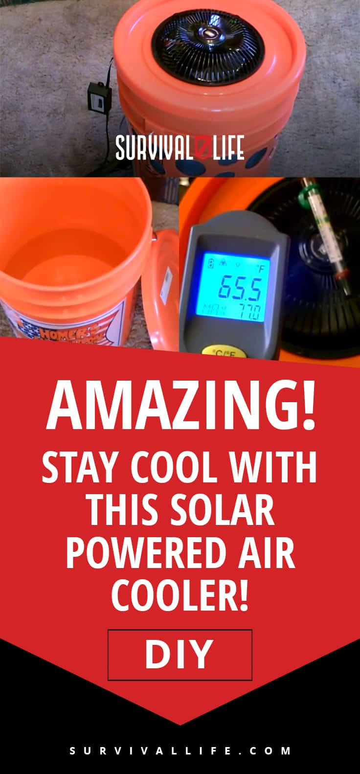 Amazing! Stay Cool With This Solar Powered Air Cooler! [DIY] | https://survivallife.com/diy-solar-powered-air-cooler/