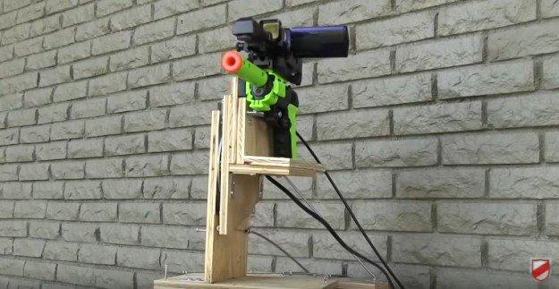 Remote Control Gun | DIY Home Security for Preppers | Badass SHTF Home Defense