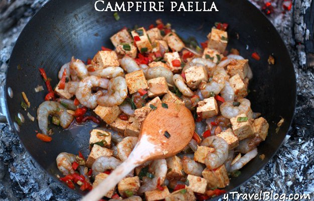 Paella While Camping
