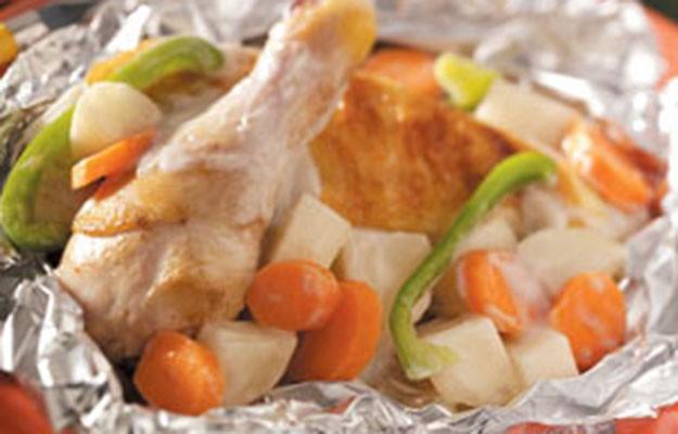 Chicken Stew Over Fire