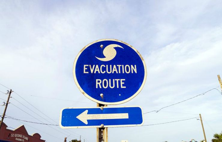 Evacuation route road sign | Everyday Uses For Your Emergency Survival Kit