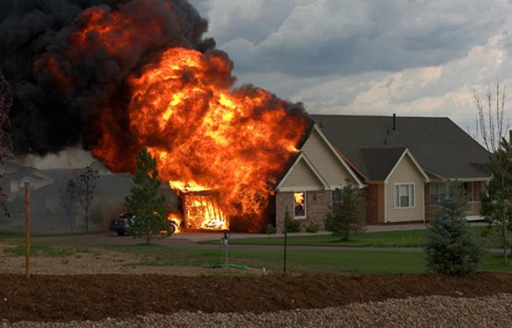 House on fire | Everyday Uses For Your Emergency Survival Kit