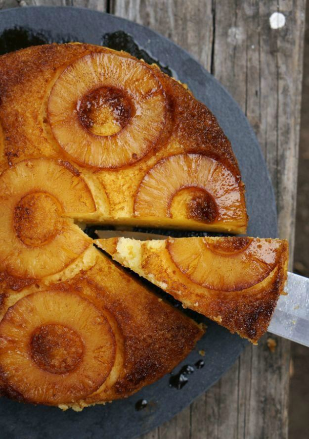 Camp Pineapple Upside Down Cake   Camping Snacks Recipes