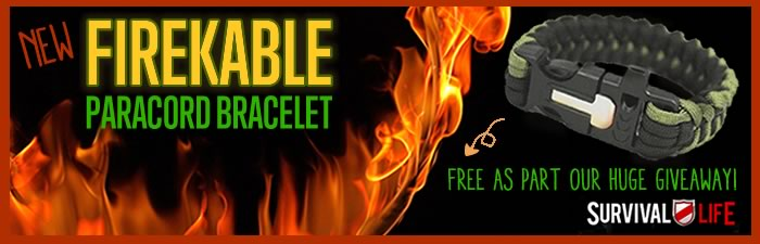 Free Paracord Bracelet - FireKable by Survival Life | Homemade Paracord Knife Grip | DIY Paracord Projects