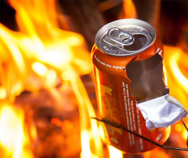 Beer/Soda Can Popcorn25 Badass Camping Hacks For Your Next Trip