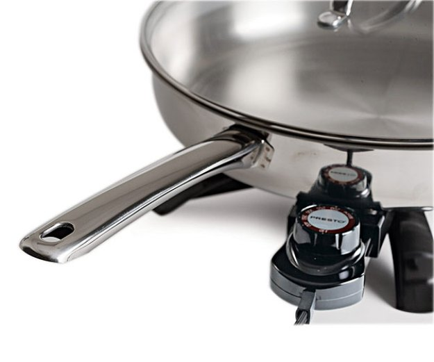 An electric skillet with a dial makes it easier to reach the desired temperature when making homemade soap.