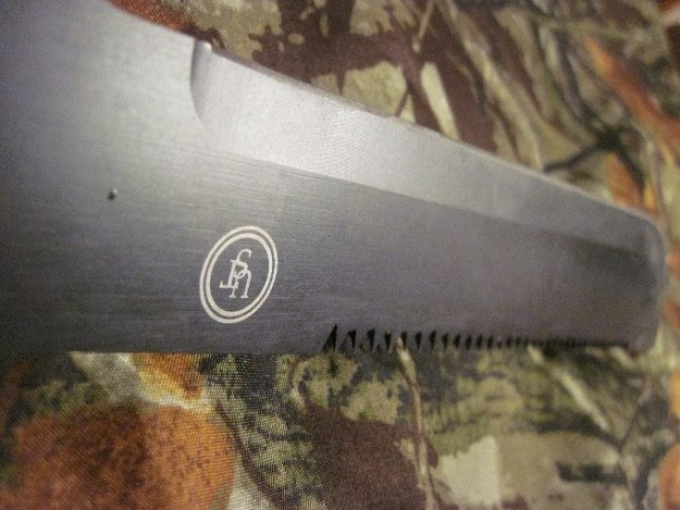 Stainless steel blade.