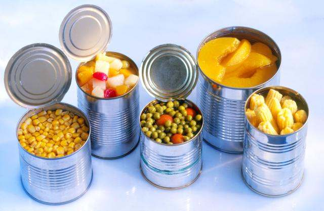 canned fruits veggies