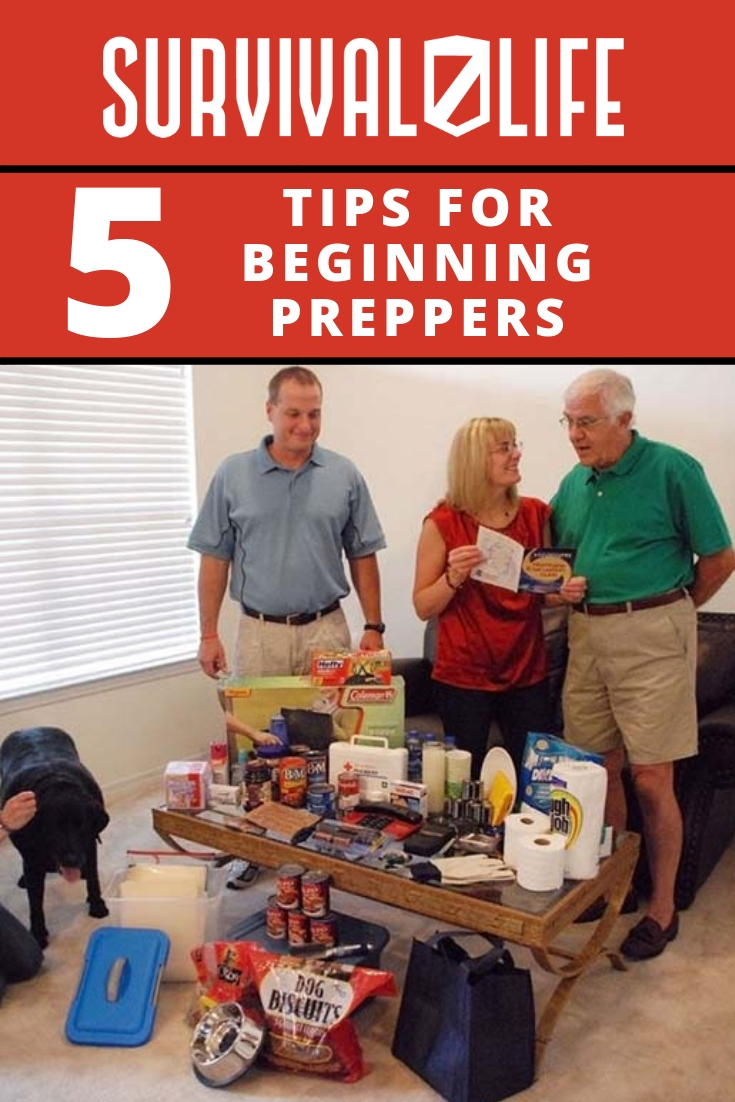 Check out 5 Tips for Beginning Preppers at https://survivallife.com/5-tips-for-beginning-preppers/