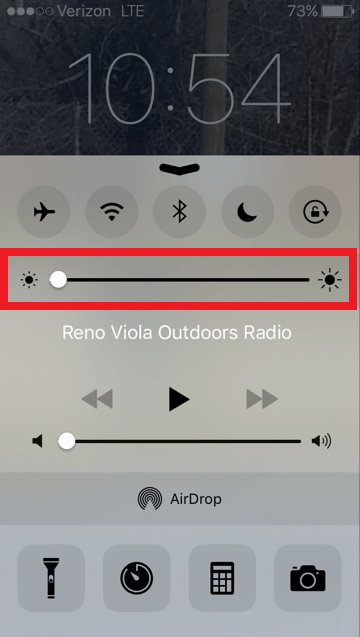 Brightness controls are highlighted in red.