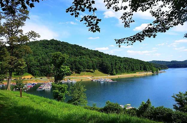 Tygart Lake State Park in West Virginia.