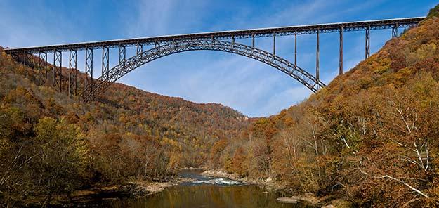 New River Gorge Bridge in West Viriginia.