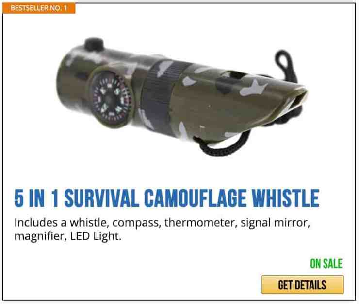 5 in 1 Survival Camouflage Whistle