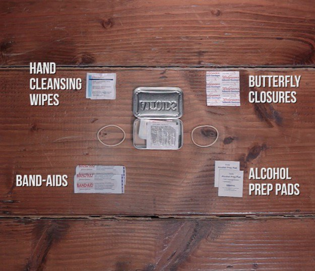First Aid Kit Contents Hand Cleansing Wipes