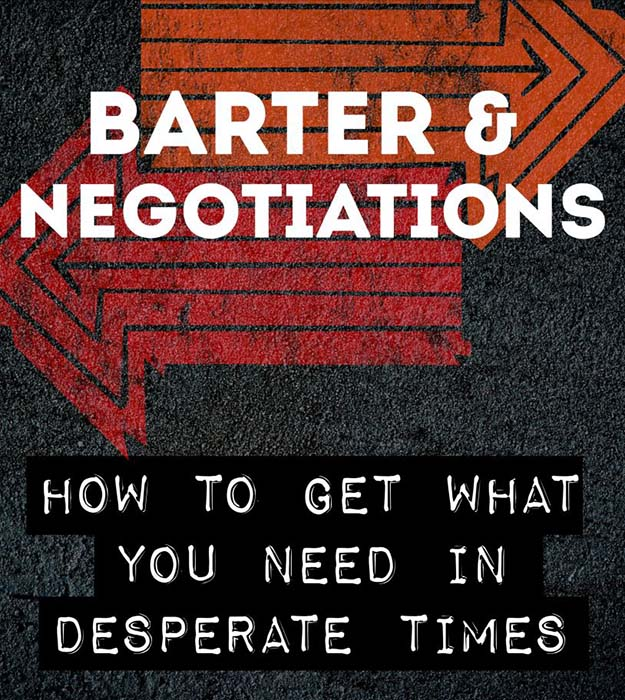 """The cover of """"Barter and Negotiations: How to Get What You Need in Desperate Times"""" ebook"""