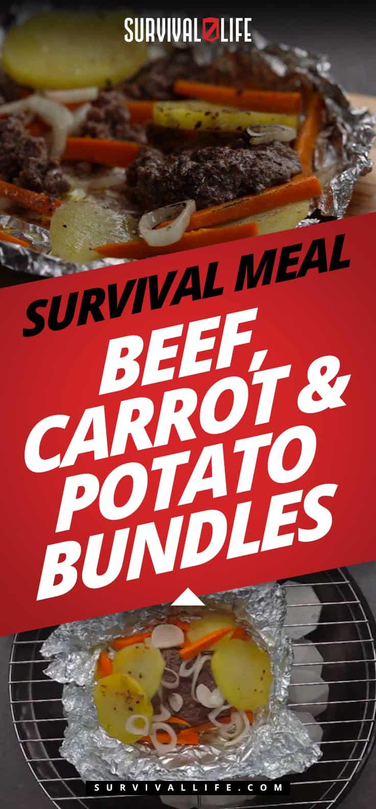 Survival Meal: Beef, Carrot & Potato Bundles