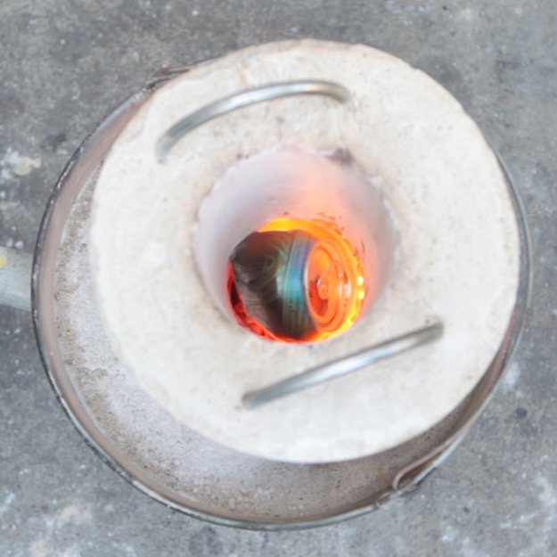 How to Melt Aluminum in Your Mini Foundry Step Five