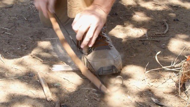 How to Start a Friction Fire Step Eight