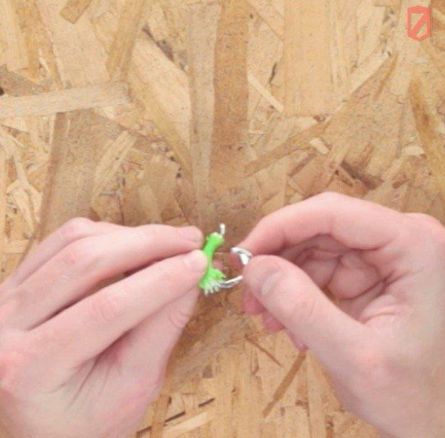 Make a Fish Hook Using a Soda Can Tab Step Five
