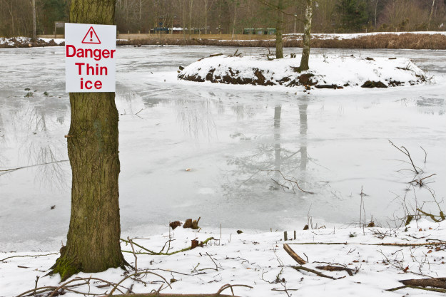 danger-thin-ice Thin Ice Ahead! How To Rescue Someone Who Has Fallen Through Ice