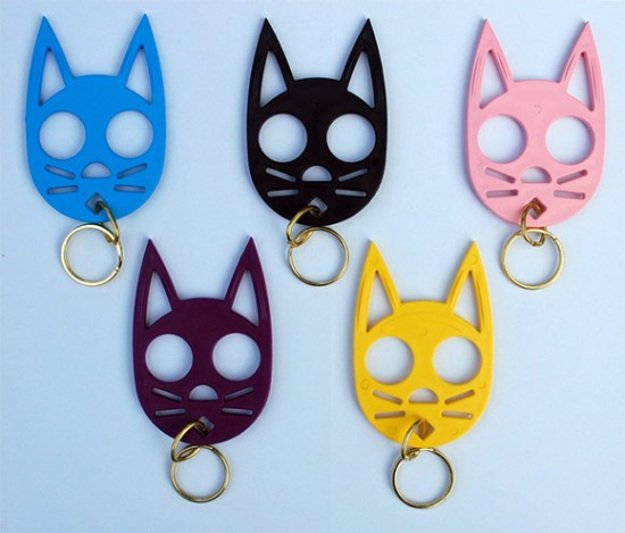 Cat Personal Safety Keychain | Valentine's Day Gifts For Her | Self-Defense Weapons For Women