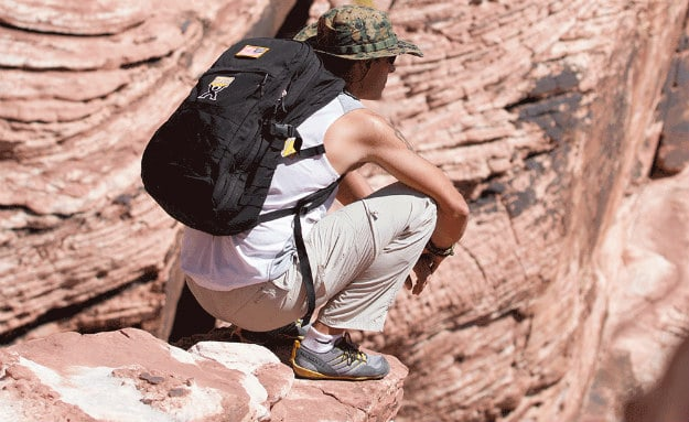 """10 Simple Ways To Be Successful When Bugging-Out """"On Foot"""" During A Crisis backpack placement"""