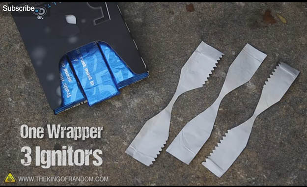 Start a Fire using a Gum Wrapper   29 YouTube Survival Skills Videos That You Can Learn At Home