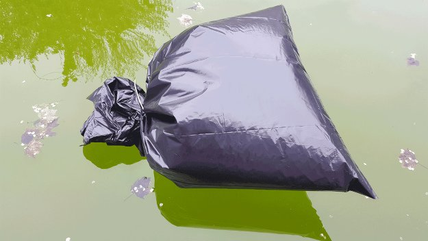 Floatation Device | Survival Uses For A Contractor's Trash Bag