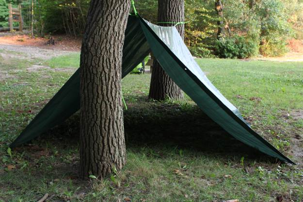 The Triangular Pattern | Tarp Shelter | Create Shelters Using Tarp