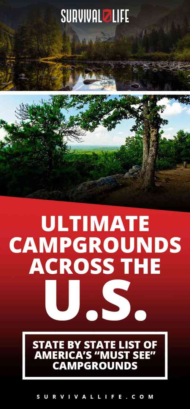 """Ultimate Campgrounds Across The U.S. : State By State List Of America's """"Must See"""" Campgrounds"""