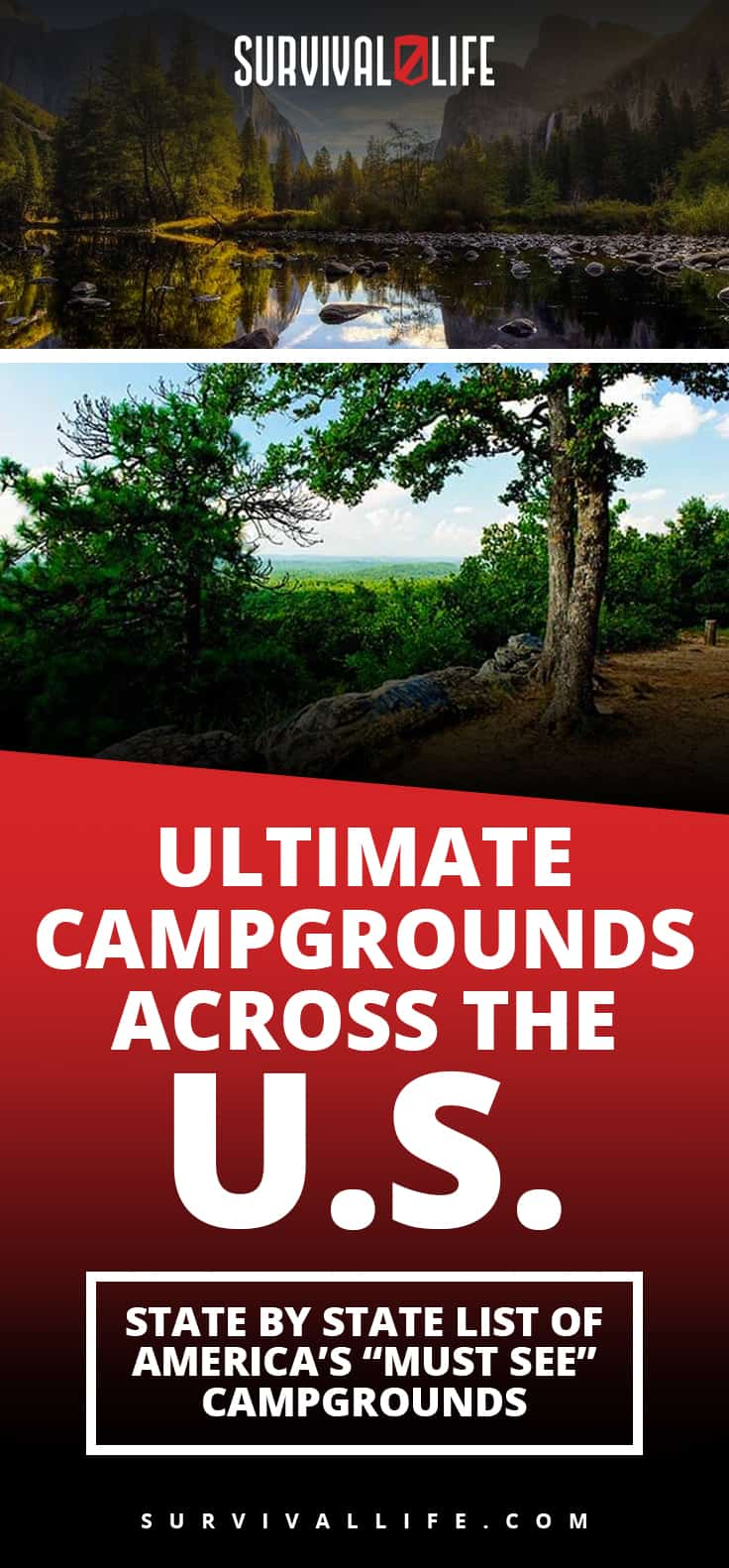 "Ultimate Campgrounds Across America: USA's ""Must See"" Campgrounds 