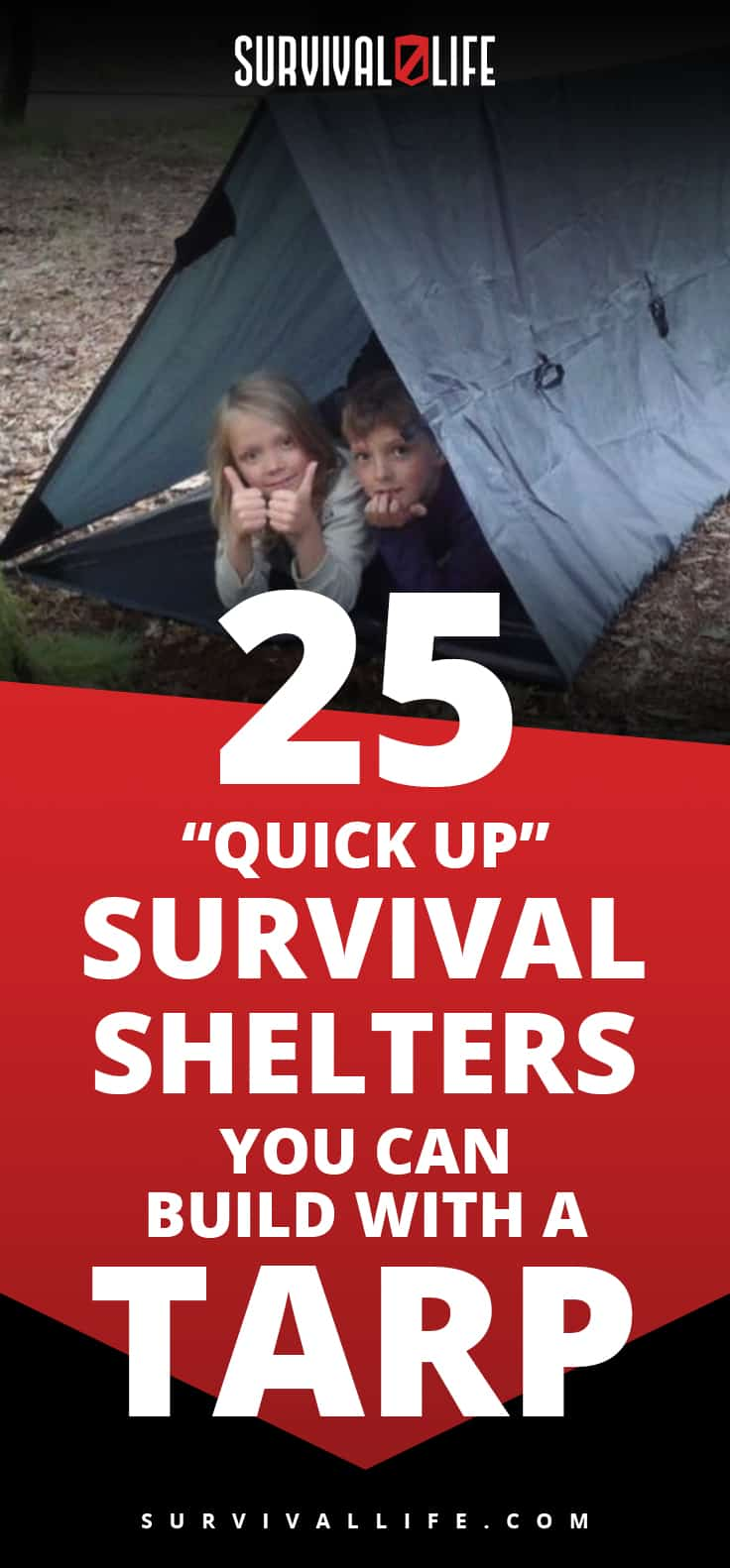 """Quick Up"" Survival Shelters You Can Build With A Tarp 