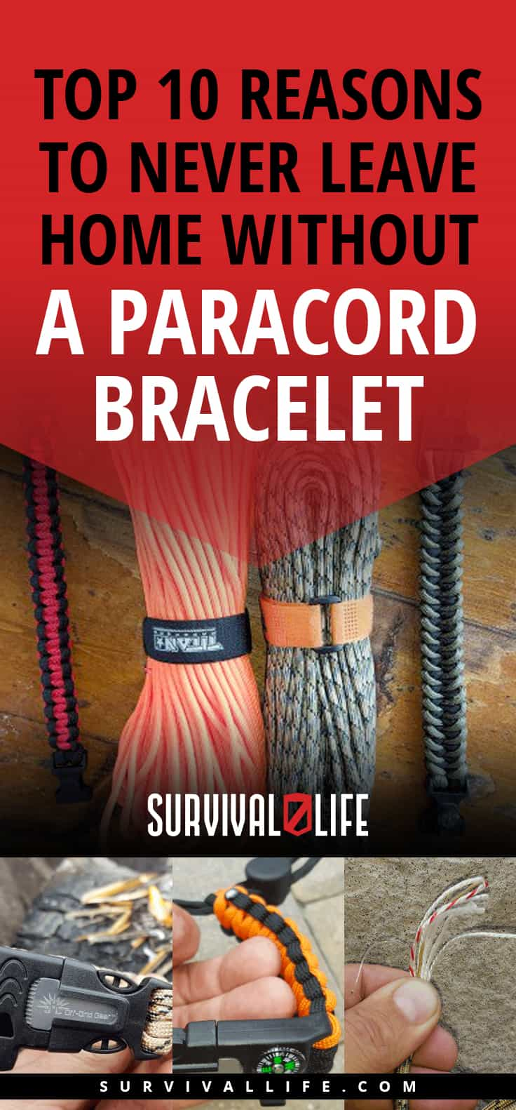 Top Reasons To Never Leave Home Without A Paracord Bracelet | https://survivallife.com/paracord-bracelets/